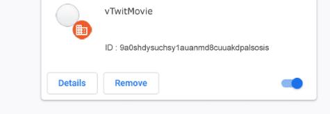 vTwitMovie extension